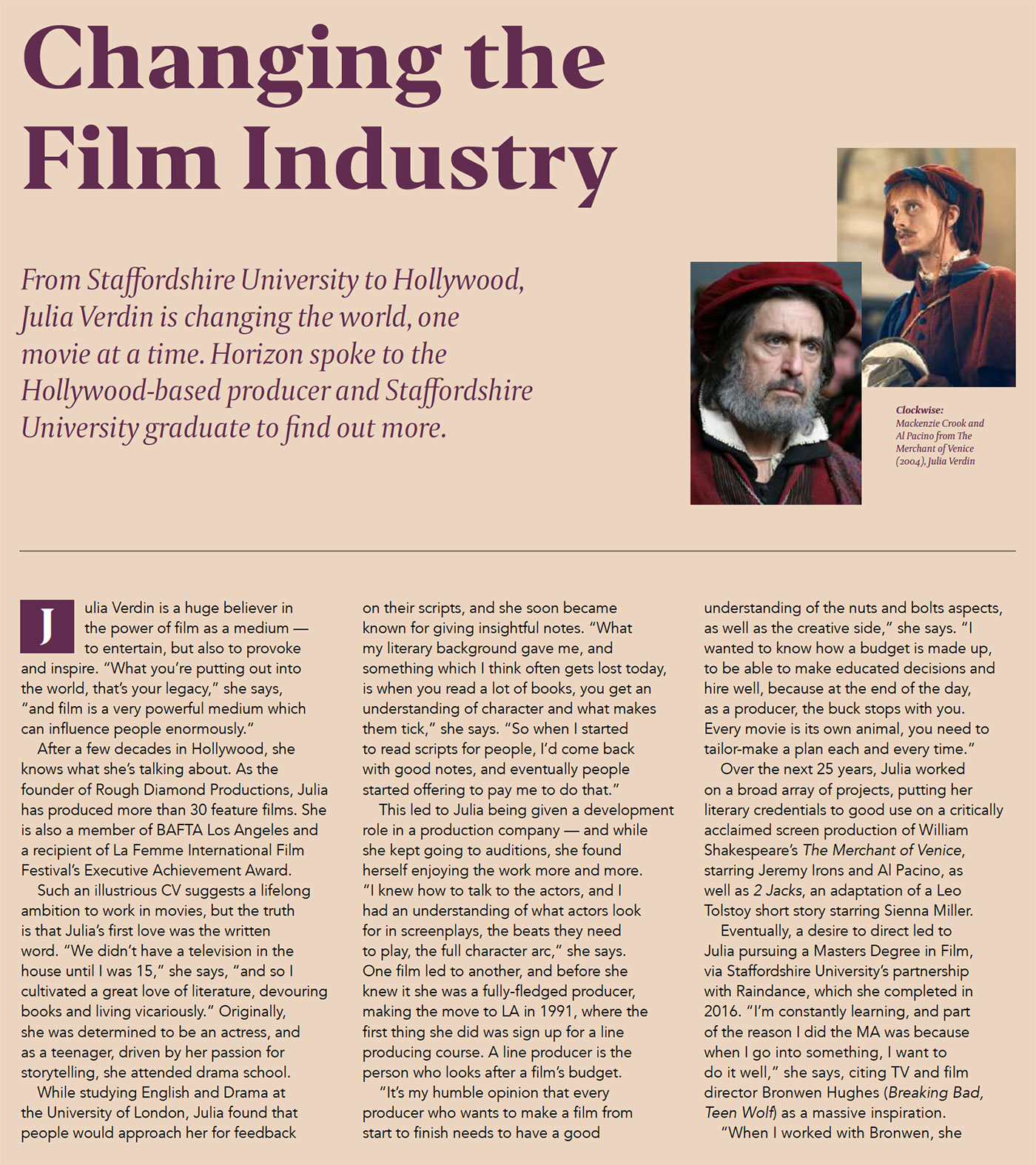 Horizon: Changing the Film Industry